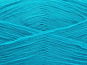 Very thin yarn. It is spinned as two threads. So you will knit as two threads. Yardage information is for only one strand. Fiber Content 100% Acrylic, Turquoise, Brand Ice Yarns, Yarn Thickness 1 SuperFine Sock, Fingering, Baby, fnt2-66184