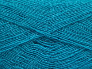Very thin yarn. It is spinned as two threads. So you will knit as two threads. Yardage information is for only one strand. İçerik 100% Akrilik, Turquoise, Brand Ice Yarns, Yarn Thickness 1 SuperFine Sock, Fingering, Baby, fnt2-66185