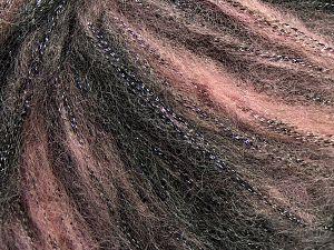 Fiber Content 30% Polyester, 30% Acrylic, 25% Wool, 15% Metallic Lurex, Light Pink, Brand Ice Yarns, Black, Yarn Thickness 4 Medium Worsted, Afghan, Aran, fnt2-66538