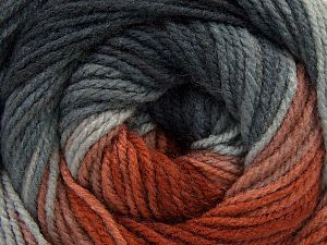 Fiber Content 100% Acrylic, Brand Ice Yarns, Grey Shades, Copper Shades, Yarn Thickness 3 Light DK, Light, Worsted, fnt2-66544