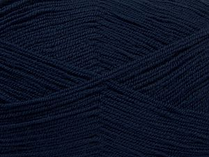 Very thin yarn. It is spinned as two threads. So you will knit as two threads. Yardage information is for only one strand. Fiber Content 100% Acrylic, Brand Ice Yarns, Dark Navy, Yarn Thickness 1 SuperFine Sock, Fingering, Baby, fnt2-66553