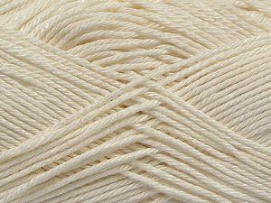 Fiber Content 100% Mercerised Cotton, Off White, Brand Ice Yarns, Yarn Thickness 2 Fine Sport, Baby, fnt2-66560