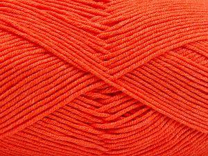 Fiber Content 50% Cotton, 50% Acrylic, Neon Orange, Brand Ice Yarns, Yarn Thickness 2 Fine Sport, Baby, fnt2-66562
