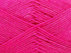 Fiber Content 50% Cotton, 50% Acrylic, Neon Pink, Brand Ice Yarns, Yarn Thickness 2 Fine Sport, Baby, fnt2-66563