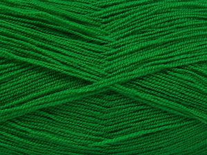 Very thin yarn. It is spinned as two threads. So you will knit as two threads. Yardage information is for only one strand. Fiber Content 100% Acrylic, Brand Ice Yarns, Dark Green, Yarn Thickness 1 SuperFine Sock, Fingering, Baby, fnt2-66564