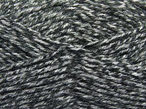 Worsted Fiber Content 100% Acrylic, White, Brand Ice Yarns, Grey Shades, Yarn Thickness 4 Medium Worsted, Afghan, Aran, fnt2-66570