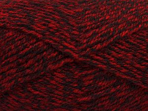 Worsted Fiber Content 100% Acrylic, Red, Brand Ice Yarns, Black, Yarn Thickness 4 Medium Worsted, Afghan, Aran, fnt2-66571