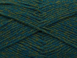 Worsted Fiber Content 100% Acrylic, Turquoise, Brand Ice Yarns, Green, Yarn Thickness 4 Medium Worsted, Afghan, Aran, fnt2-66572