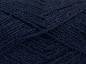 Contenido de fibra 60% Lana Merino, 40% Acrílico, Navy, Brand Ice Yarns, Yarn Thickness 3 Light DK, Light, Worsted, fnt2-66586
