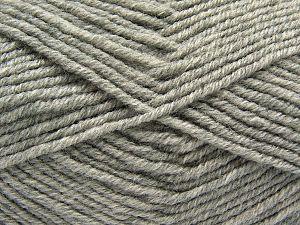 Fiber Content 60% Merino Wool, 40% Acrylic, Light Grey, Brand Ice Yarns, Yarn Thickness 3 Light DK, Light, Worsted, fnt2-66589