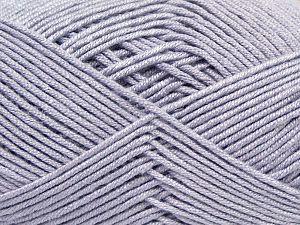 Fiber Content 50% Acrylic, 50% Bamboo, Light Lilac, Brand Ice Yarns, Yarn Thickness 2 Fine Sport, Baby, fnt2-66609