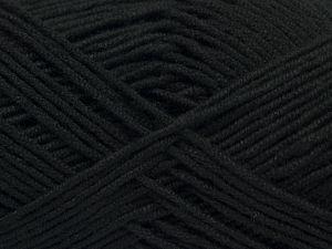 Fiber Content 50% Bamboo, 50% Acrylic, Brand Ice Yarns, Black, Yarn Thickness 2 Fine Sport, Baby, fnt2-66770