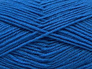 Contenido de fibra 60% Lana Merino, 40% Acrílico, Brand Ice Yarns, Dark Blue, Yarn Thickness 3 Light DK, Light, Worsted, fnt2-66782