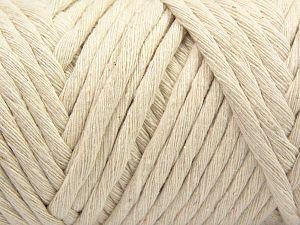 Fiber Content 100% Cotton, Brand Ice Yarns, Cream, Yarn Thickness 6 SuperBulky Bulky, Roving, fnt2-66826