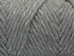 Fiber Content 100% Cotton, Brand Ice Yarns, Grey, Yarn Thickness 6 SuperBulky Bulky, Roving, fnt2-66828