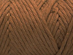 Fiber Content 100% Cotton, Light Brown, Brand Ice Yarns, Yarn Thickness 6 SuperBulky Bulky, Roving, fnt2-66829