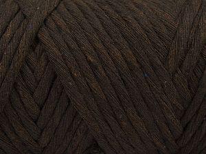 Fiber Content 100% Cotton, Brand Ice Yarns, Dark Brown, Yarn Thickness 6 SuperBulky Bulky, Roving, fnt2-66830