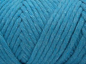 Fiber Content 100% Cotton, Turquoise, Brand Ice Yarns, Yarn Thickness 6 SuperBulky Bulky, Roving, fnt2-66835