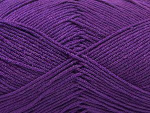 Fiber Content 50% Cotton, 50% Acrylic, Purple, Brand Ice Yarns, Yarn Thickness 2 Fine Sport, Baby, fnt2-66893