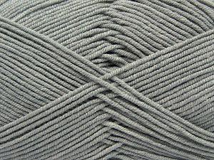 Fiber Content 50% Acrylic, 50% Cotton, Light Grey, Brand Ice Yarns, Yarn Thickness 2 Fine Sport, Baby, fnt2-66894