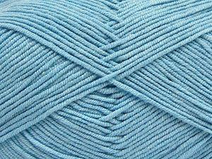 Fiber Content 50% Acrylic, 50% Cotton, Brand Ice Yarns, Baby Blue, Yarn Thickness 2 Fine Sport, Baby, fnt2-66895