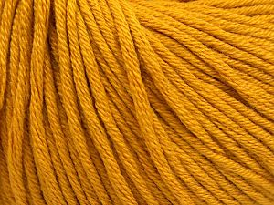 Fiber Content 50% Cotton, 50% Acrylic, Brand Ice Yarns, Gold, Yarn Thickness 3 Light DK, Light, Worsted, fnt2-66903