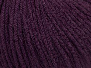 Fiber Content 50% Acrylic, 50% Cotton, Purple, Brand Ice Yarns, Yarn Thickness 3 Light DK, Light, Worsted, fnt2-66908