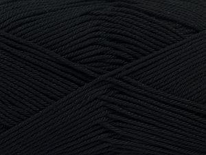 Fiber Content 100% Mercerised Giza Cotton, Brand Ice Yarns, Black, Yarn Thickness 2 Fine Sport, Baby, fnt2-66914