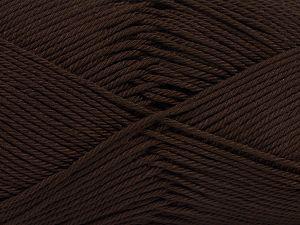 Fiber Content 100% Mercerised Giza Cotton, Brand Ice Yarns, Dark Brown, Yarn Thickness 2 Fine Sport, Baby, fnt2-66917