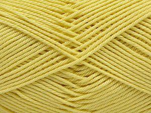 Fiber Content 100% Mercerised Giza Cotton, Light Yellow, Brand Ice Yarns, Yarn Thickness 2 Fine Sport, Baby, fnt2-66933