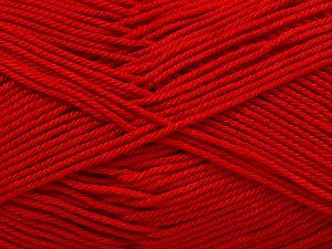 Fiber Content 100% Mercerised Giza Cotton, Red, Brand Ice Yarns, Yarn Thickness 2 Fine Sport, Baby, fnt2-66940