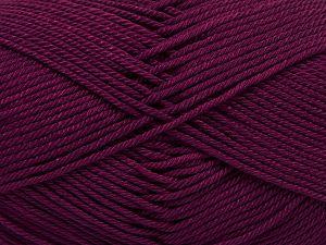 Fiber Content 100% Mercerised Giza Cotton, Brand Ice Yarns, Dark Burgundy, Yarn Thickness 2 Fine Sport, Baby, fnt2-66942