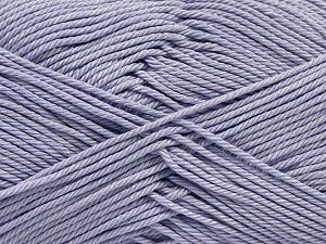 Fiber Content 100% Mercerised Giza Cotton, Light Lilac, Brand Ice Yarns, Yarn Thickness 2 Fine Sport, Baby, fnt2-66945