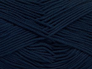 Fiber Content 100% Mercerised Giza Cotton, Brand Ice Yarns, Dark Navy, Yarn Thickness 2 Fine Sport, Baby, fnt2-66949