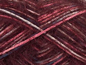 Fiber Content 55% Acrylic, 45% Polyamide, White, Pink, Brand Ice Yarns, Burgundy, Blue, Yarn Thickness 4 Medium Worsted, Afghan, Aran, fnt2-66954
