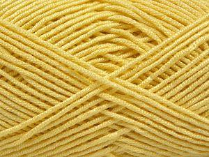 Fiber Content 50% Acrylic, 50% Bamboo, Light Yellow, Brand Ice Yarns, Yarn Thickness 2 Fine Sport, Baby, fnt2-66983