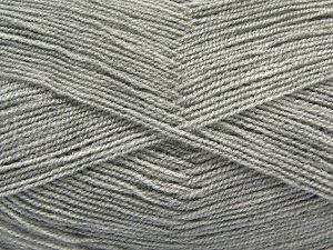 Very thin yarn. It is spinned as two threads. So you will knit as two threads. Yardage information is for only one strand. Fiber Content 100% Acrylic, Light Grey, Brand Ice Yarns, Yarn Thickness 1 SuperFine Sock, Fingering, Baby, fnt2-67004