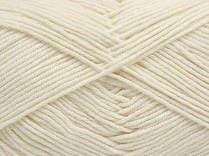 Fiber Content 50% Cotton, 50% Acrylic, Brand Ice Yarns, Ecru, Yarn Thickness 2 Fine Sport, Baby, fnt2-67015