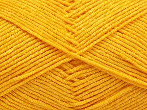 Fiber Content 50% Acrylic, 50% Cotton, Yellow, Brand Ice Yarns, Yarn Thickness 2 Fine Sport, Baby, fnt2-67017