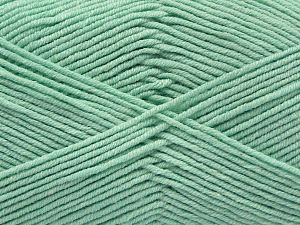 Fiber Content 50% Cotton, 50% Acrylic, Light Mint Green, Brand Ice Yarns, Yarn Thickness 2 Fine Sport, Baby, fnt2-67020