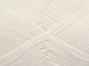Fiber Content 100% Cotton, White, Brand Ice Yarns, Yarn Thickness 2 Fine Sport, Baby, fnt2-67023