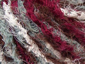 Fiber Content 100% Polyamide, White, Brand Ice Yarns, Burgundy, Brown, Yarn Thickness 6 SuperBulky Bulky, Roving, fnt2-67029