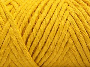 Fiber Content 100% Cotton, Yellow, Brand Ice Yarns, Yarn Thickness 6 SuperBulky Bulky, Roving, fnt2-67034