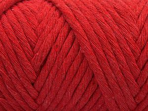 Fiber Content 100% Cotton, Red, Brand Ice Yarns, Yarn Thickness 6 SuperBulky Bulky, Roving, fnt2-67036