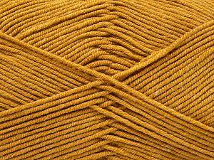 Fiber Content 50% Cotton, 50% Acrylic, Brand Ice Yarns, Gold, Yarn Thickness 2 Fine Sport, Baby, fnt2-67043