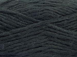 Contenido de fibra 85% Acrílico, 5% Mohair, 10% Lana, Brand Ice Yarns, Black, Yarn Thickness 5 Bulky Chunky, Craft, Rug, fnt2-67094
