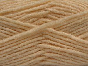 Contenido de fibra 85% Acrílico, 5% Mohair, 10% Lana, Brand Ice Yarns, Dark Cream, Yarn Thickness 5 Bulky Chunky, Craft, Rug, fnt2-67096