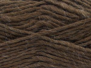 Contenido de fibra 85% Acrílico, 5% Mohair, 10% Lana, Brand Ice Yarns, Coffee Brown, Yarn Thickness 5 Bulky Chunky, Craft, Rug, fnt2-67097