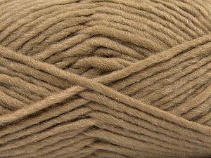 Contenido de fibra 85% Acrílico, 5% Mohair, 10% Lana, Brand Ice Yarns, Camel, Yarn Thickness 5 Bulky Chunky, Craft, Rug, fnt2-67099