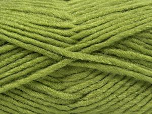 Contenido de fibra 85% Acrílico, 5% Mohair, 10% Lana, Light Green, Brand Ice Yarns, Yarn Thickness 5 Bulky Chunky, Craft, Rug, fnt2-67103